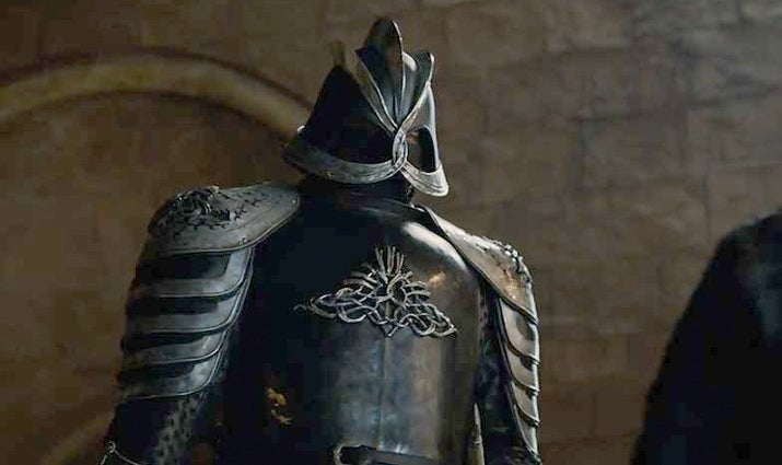 The first thing you have to say about the Mountain in the trailer is how snazzy he looks in his new Darth Vader costume. Definitely the best-looking 8-foot zombie in the Seven Kingdoms. But there's another, WAYYYYY more interesting shot in the second trailer that has caused everyone to get more than a little...hype.