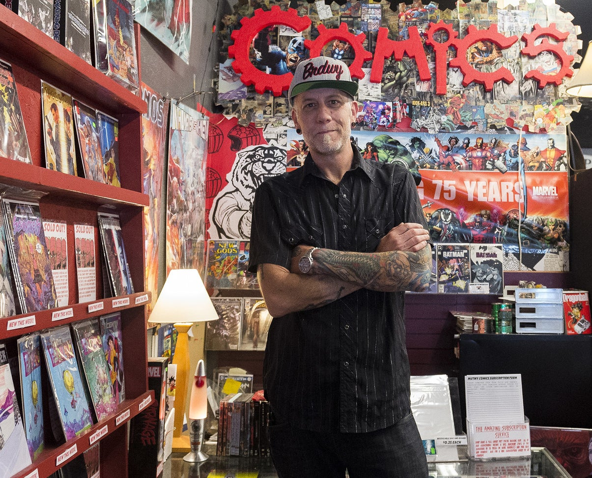 Jim Norris, co-owner of Mutiny Information Cafe.