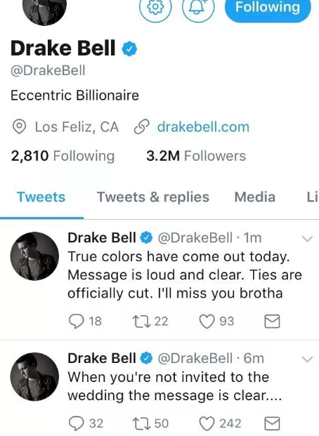 You've probably heard that Drake and Josh are in a huge feud over the fact that Josh didn't invite Drake to his wedding.