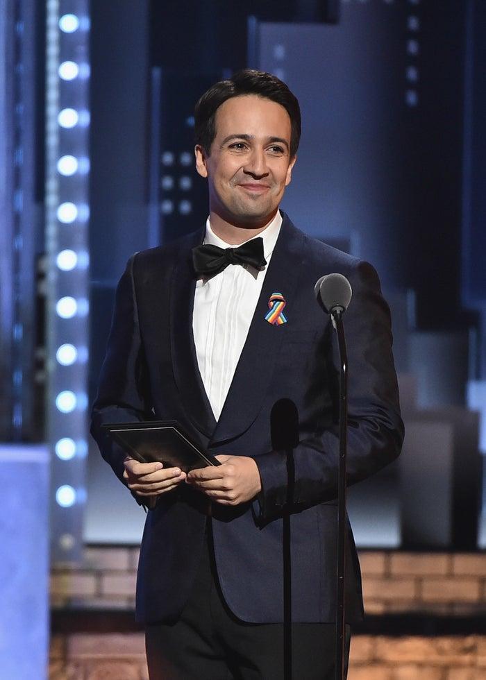 Hamilton creator Lin-Manuel Miranda.