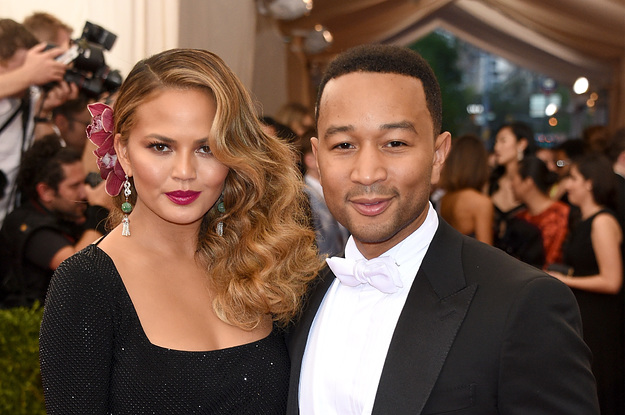 Chrissy Teigen Handled A Wardrobe Malfunction Perfectly While Onstage With John Legend