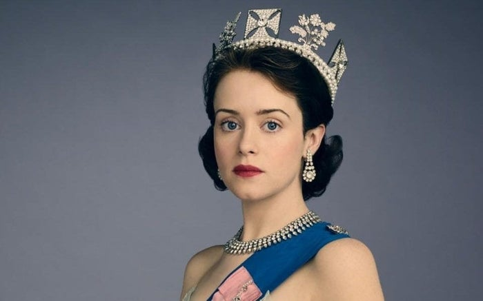 Claire Foy as Queen Elizabeth in The Crown.