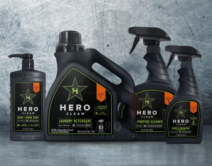 """""""Specifically formulated and fragranced for guys' gear and homes."""""""