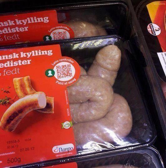 This fleshy sausage: