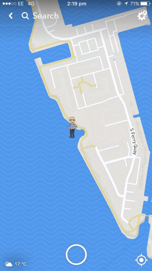 While they were waiting, John opened up his Snap map...and saw THIS!