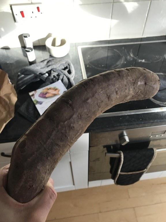 This, ahem, girthy sweet potato: