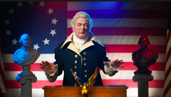 The video, which debuted on Entertainment Weekly's website, showcases Baldwin as a George Washington/Donald Trump crossover and it is GLORIOUS.