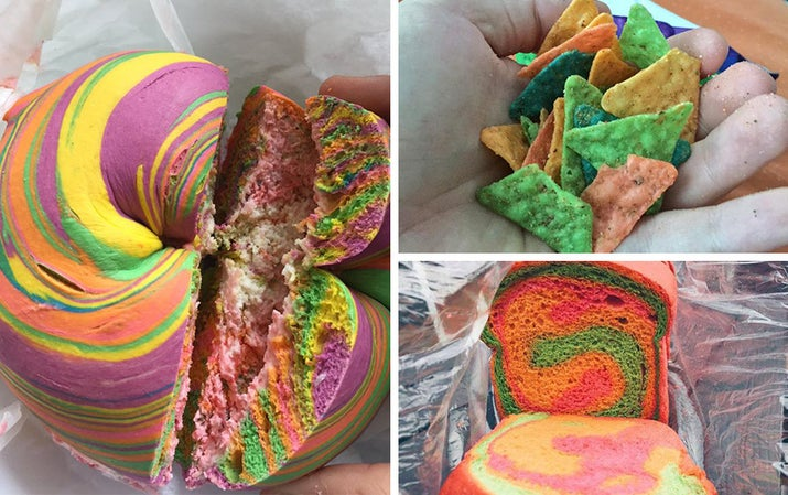Rainbows are great, bagels are great, but that doesn't mean mixing them together is great.