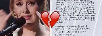 Adele Tells Fans She May Never Tour Again In An Emotional Handwritten Note