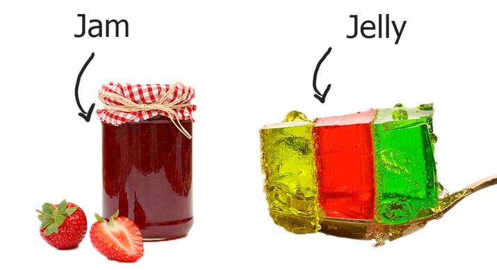 Jelly is something you get with ice cream at a child's birthday party, not something you spread on toast.