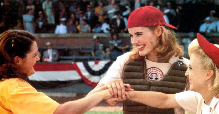 While many men were away fighting in WWII, Major League Baseball executives wanted to keep the sport in the public eye. So they brought in teams of women to form the AAGPBL. A League Of Their Own is a fictionalized portrayal of the Rockford Peaches, one of the legendary teams that ended up in the Baseball Hall of Fame. TL;DR YOU SHOULD WATCH THIS MOVIE.