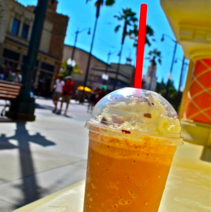 Where you can get it: Schmoozie's Smoothies in Hollywood Land at California Adventure.What we know about it: This smoothie combines a special blend of coffee and chocolate with vanilla ice cream, then tops it off with whipped cream and chocolate shavings!
