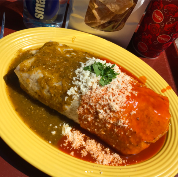 Where you can get it: Rancho del Zocalo Restaurante in Frontierland at Disneyland.What we know about it: This gigantic burrito is filled with every ingredient in the prep line, doused in tomatillo and guajillo sauce, and guaranteed to fill you up! It goes for $12.99.