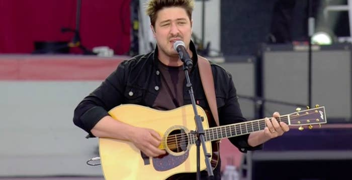 Marcus Mumford, from Mumford & Sons.