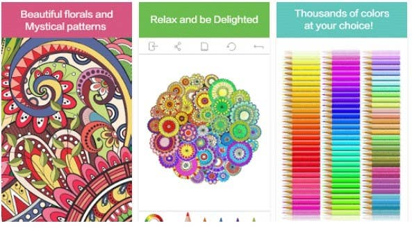 Colorfly Is One Of The Best Adult Coloring Apps Having A Collection Different Images