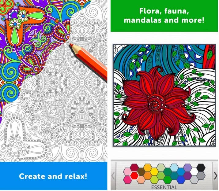 Adult Coloring Book Is An App Mainly For Adults This Completely Free To