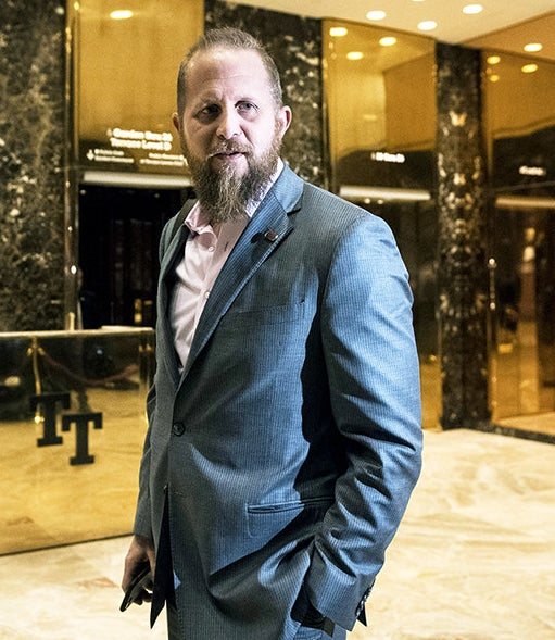 Brad Parscale, who was the Trump campaign's digital director, makes his way to the elevator at Trump Tower in New York, NY on Wednesday, Nov. 16, 2016.