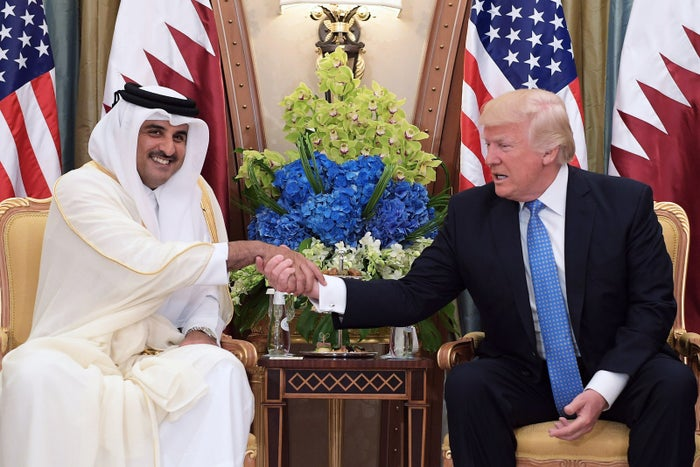 "After a pleasant meeting with Qatari Emir al-Thani, Trump used his big speech in Riyadh to praise Qatar: ""Qatar, which hosts the US Central Command, is a crucial strategic partner."" (Egypt, in comparison, got a shout-out to its pyramids.)"