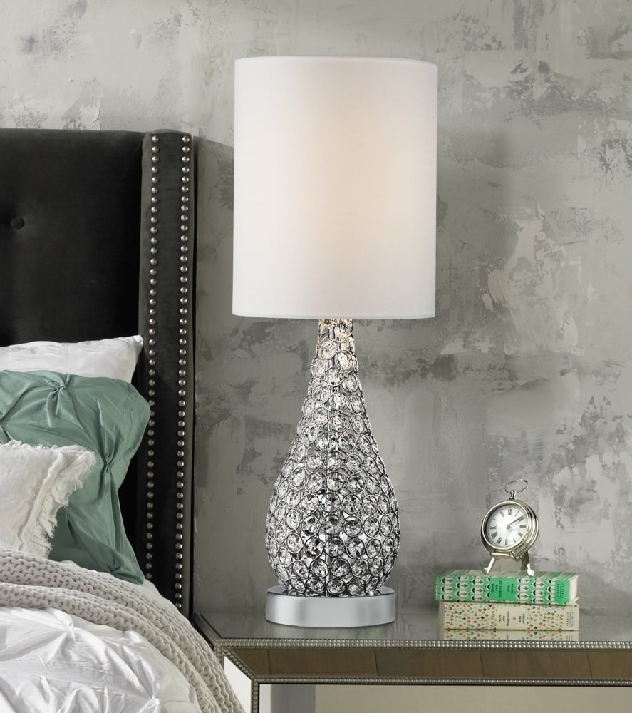 A Lavish Lamp With Crystals For Maximum Wattage Brilliance.