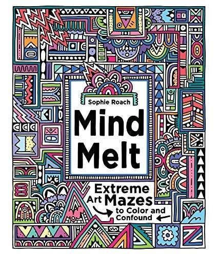 This Extreme Maze Filled Coloring Book Is Perfect For The Perfectionist Or Puzzle Lover