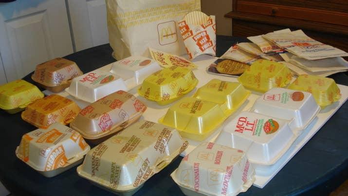 McDonald's styrofoam