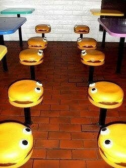 McDonald's chairs