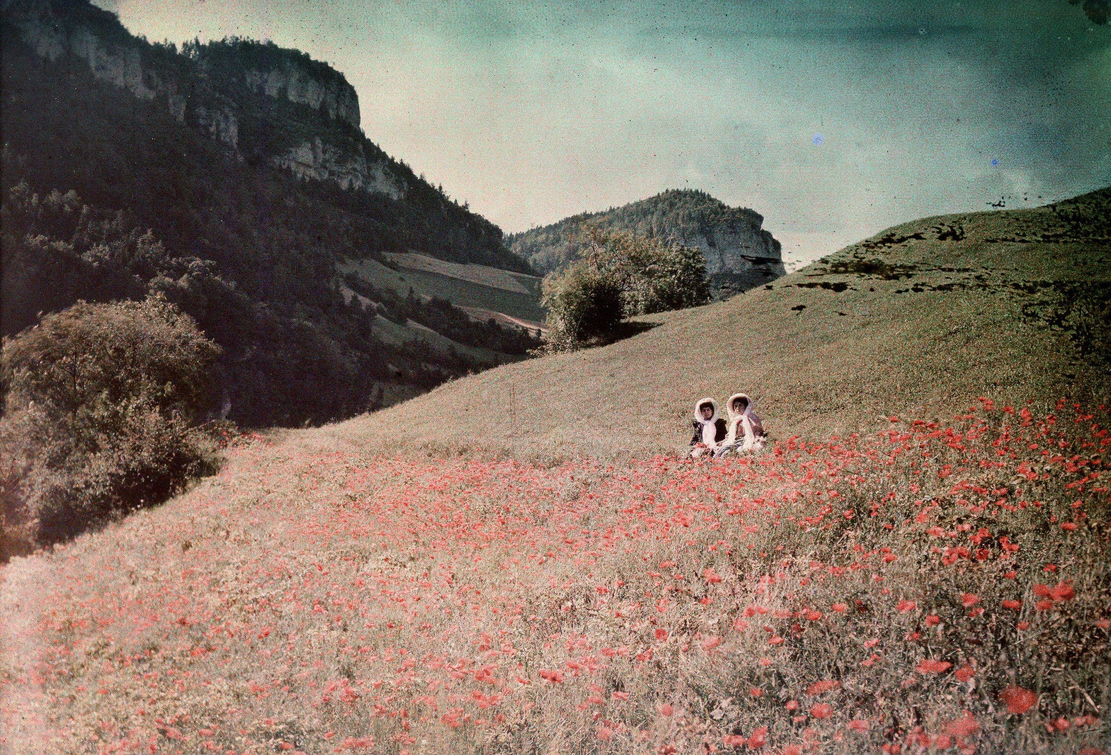 Autochrome of the French Alps by an unknown artist, circa 1920.