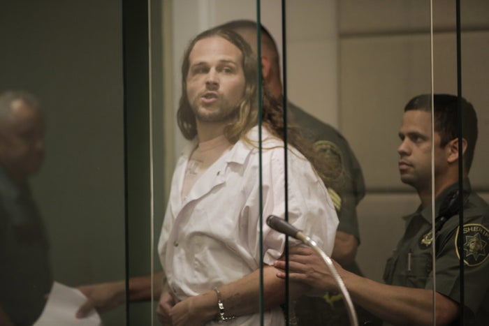 Jeremy Christian, 35, appears in court on Wednesday.