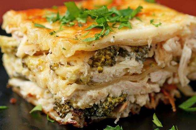 Broccoli Chicken Alfredo Lasagna