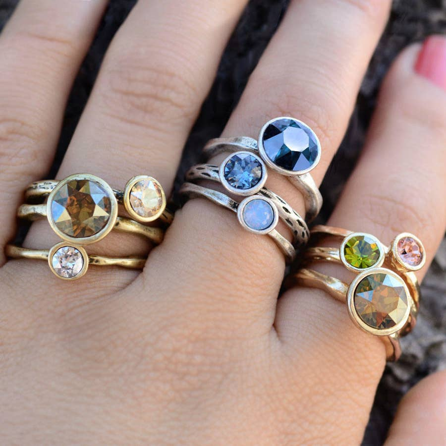 stackable animal resin ring