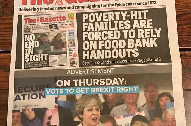 A Lot Of People Think The Blackpool Gazette Has Epically Trolled The Tories