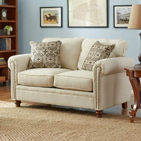 comfortable couch. 1. A Loveseat With Classic Nailhead Trim. Comfortable Couch O