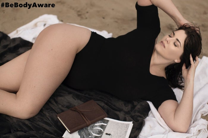 """The project is led by fellow curvy model Tia Duffy. Inder was featured in a gorgeous beach shoot wearing a black bodysuit.Duffy told Vogue Italia she wanted to demonstrate """"that the plus size model is capable of a high fashion editorial just as much as two straight size models."""" """"I want to keep going until I have most if not all world designers and brands on board."""""""