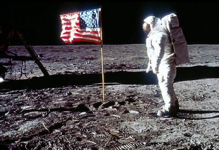 Neil Armstrong and Buzz Aldrin were the first men to walk on the moon on July 20, 1969. Just 21 years before you were born.