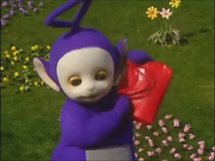 It S Been 16 Long Years Yes You Re That Old Since We Saw Tinky Winky Become A Handbag Icon
