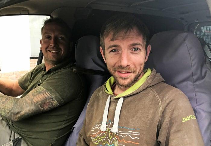 Benjamin Ryan (right) and his colleague Dan.