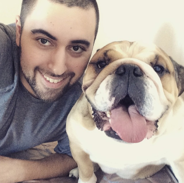 Hey, what's up, hello! I'm Anthony, and I happen to be the only man on the fabulous BuzzFeed Health team. (Oh, and that's my dog.)