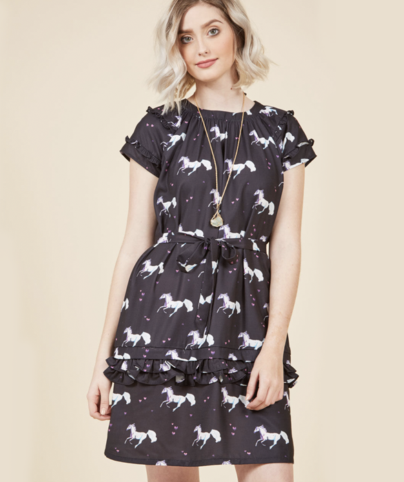 You'll pretty much sparkle in this thing. Get it on Modcloth for $69.99 (available in sizes XS-XL).
