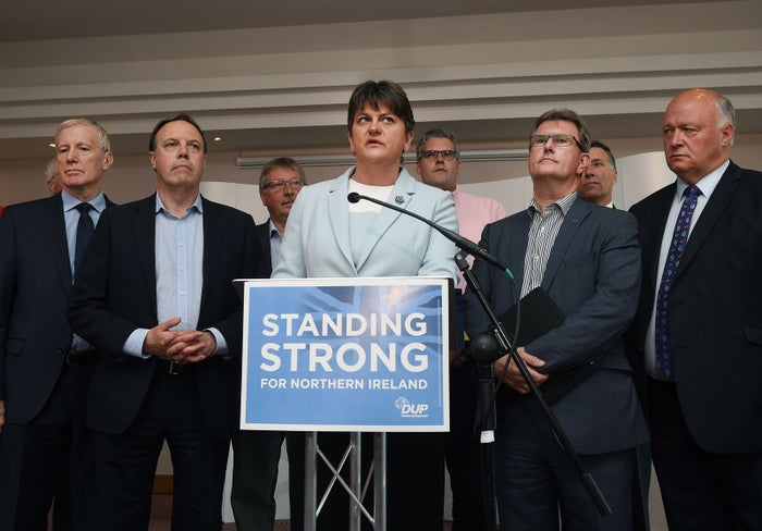 DUP leader Arlene Foster with her party's candidates