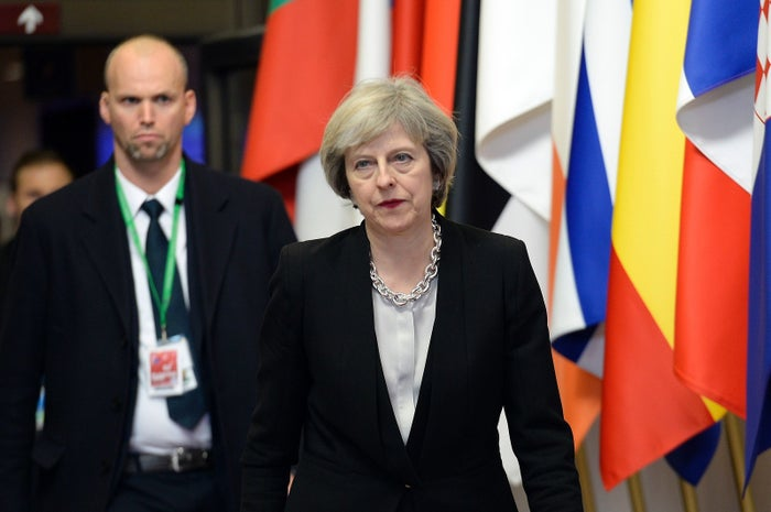 Theresa May at a European Union summit in Brussels last year.