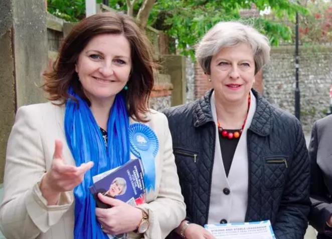 Caroline Ansell with Theresa May