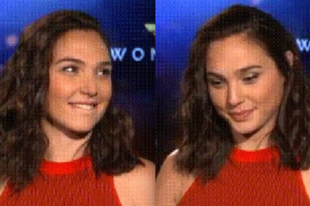 gal gadot briefly forgot where she was while looking at