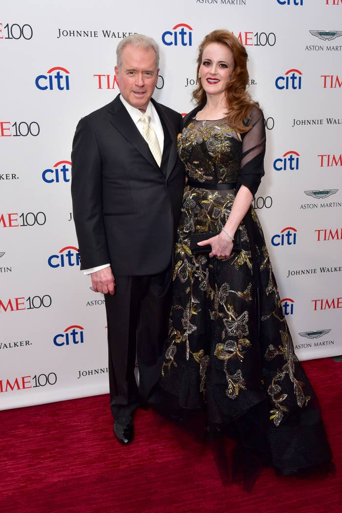 Robert Mercer and Rebekah Mercer attend the 2017 Time 100 Gala at Jazz at Lincoln Center on April 25 in New York City.