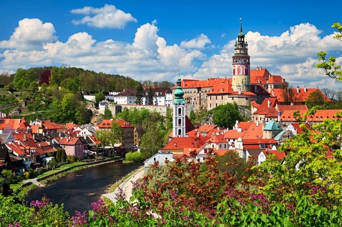 The centerpiece of this Czech Republic town, located about two hours from Prague, is the 13th century castle built on the Vltava River.