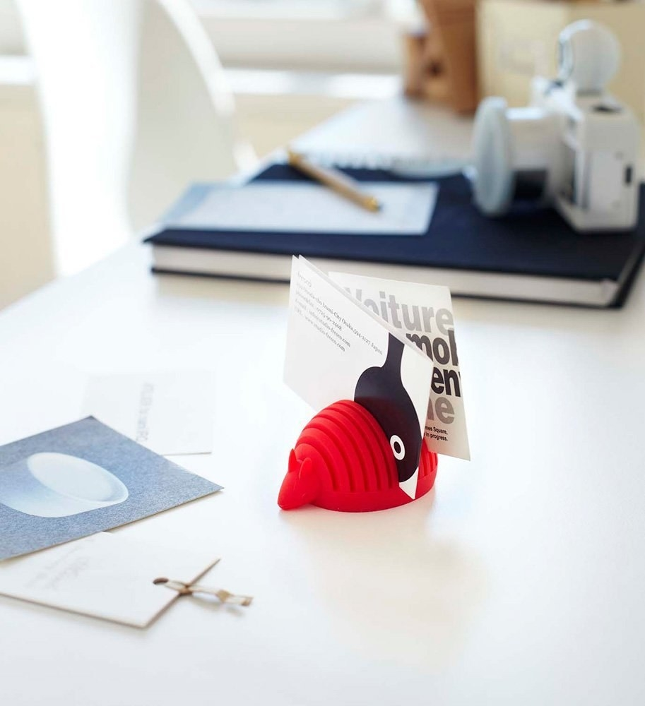 20 off a red armadillo card holder