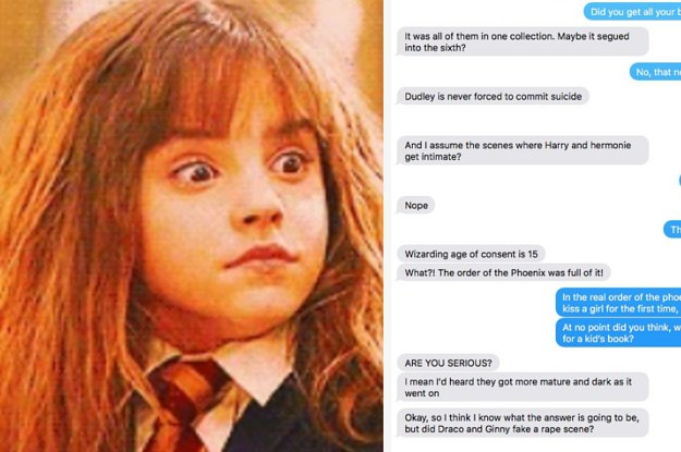 This Guy Accidentally Read NSFW Harry Potter Fan Fiction