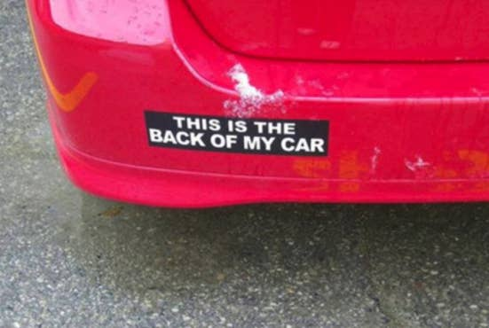 The perfect sticker to really shock everyone on the road