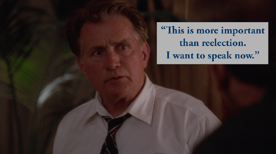 West wing quotes bartlet homosexuality