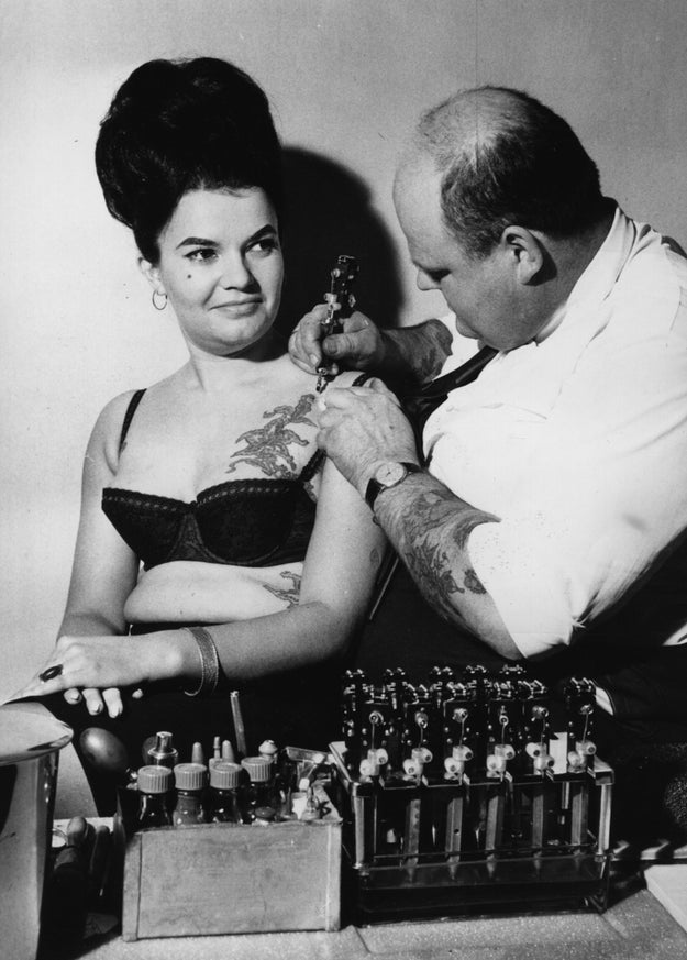 For proof that tattoos have always been cool no matter what decade.