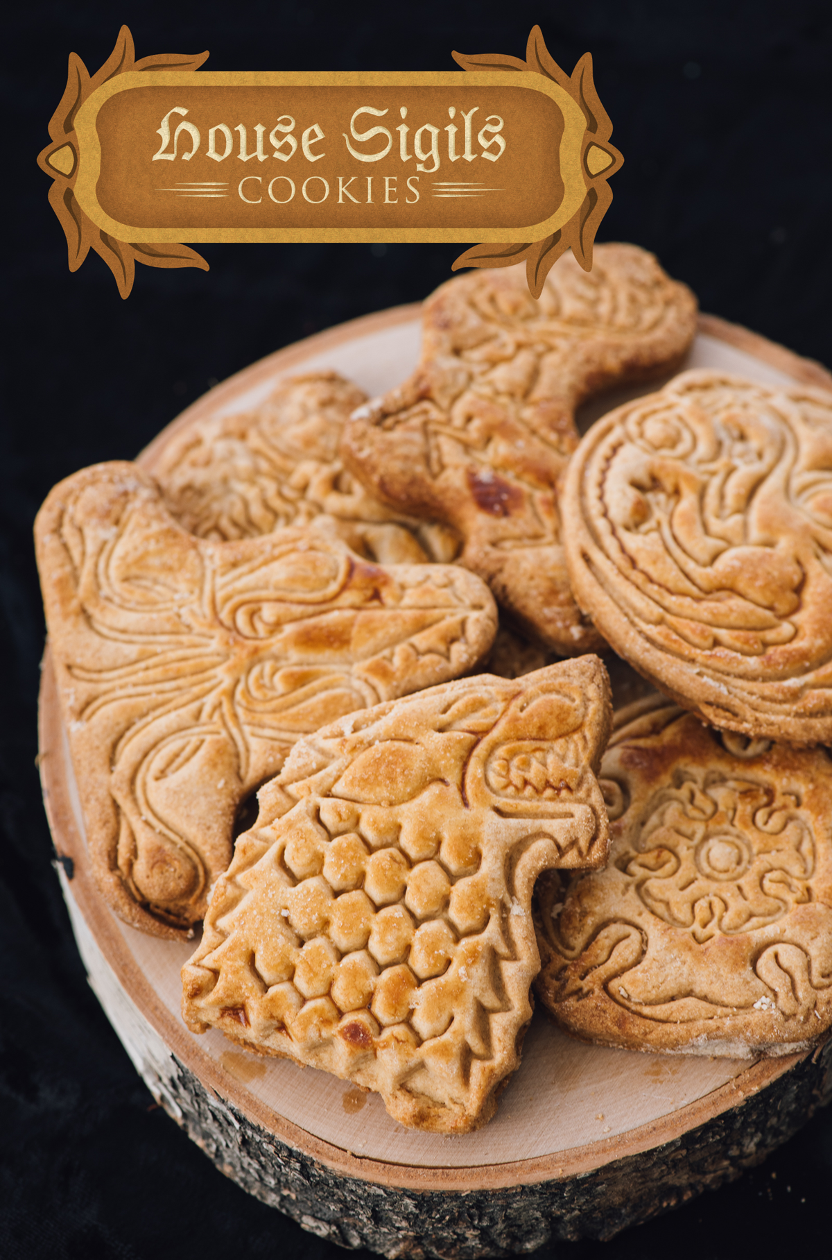 For these, you only need your favorite cookie recipe (ours is a yummy honey shortbread) or store-bought dough, and a set of cookie cutters or cookie stamps (we used some cookie cutters which are now sold out, but here are some cookie stamps you can use.)
